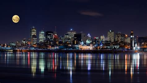 mobile city canada city cityscape montreal canada view lights