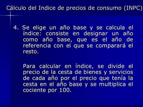 clculo de variaciones del ndice de precios al consumidor inpc y tasa de inflaci 243 n