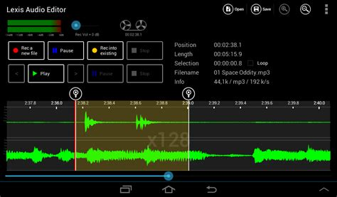 define android define a selection android lexis audio editor