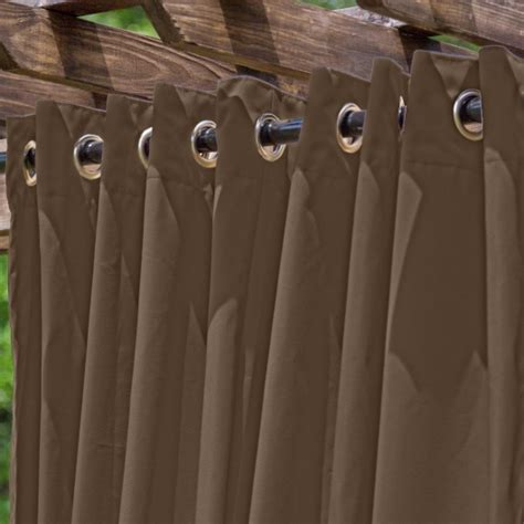 extra wide outdoor curtains light brown extra wide outdoor curtain essentials by dfo