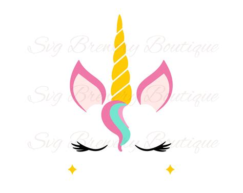 printable unicorn horn unicornio cuerno svg en capas png dxf pdf para cricut