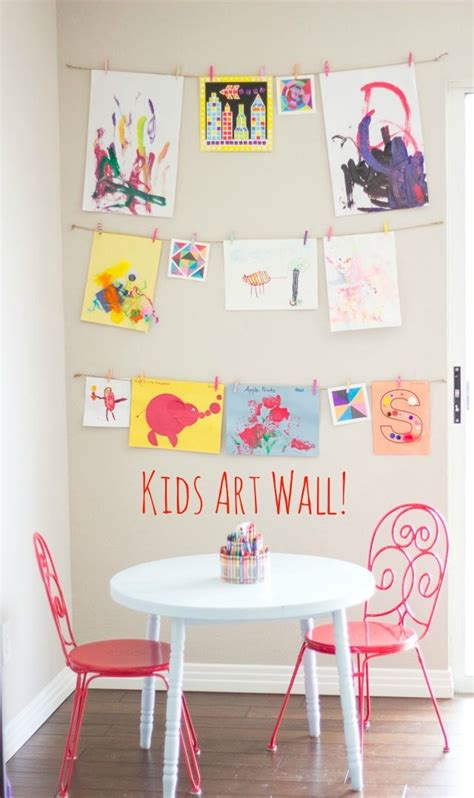 kids wall ideas best 25 display kids art ideas on pinterest display
