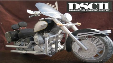 How To Make A Paper Motorbike - paper craft of motorcycle yamaha dsc11