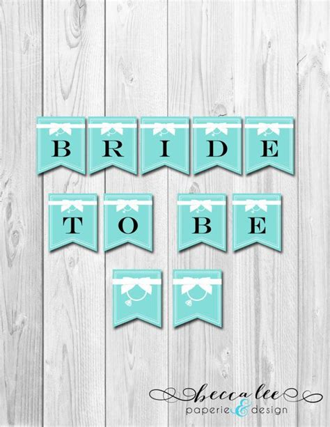 instant download tiffany co theme bridal shower banner