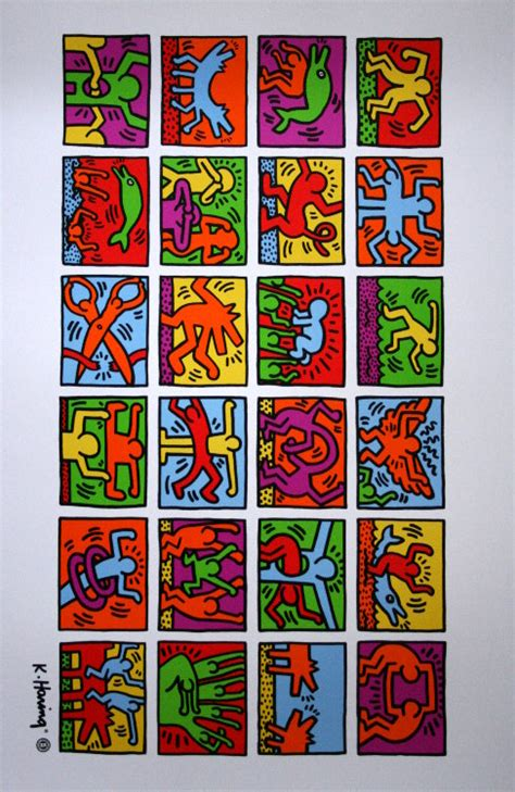 Haring Artwork by Keith Haring Retrospect 1989 Reproduction En Affiche