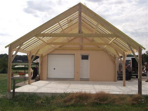 garage ossature bois en kit impressionnant plan garage ossature bois toit plat 13