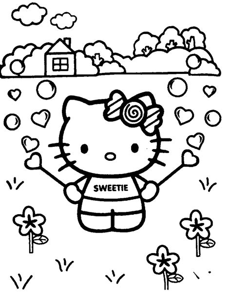 dibujos para pintar hello kitty 61 cute hello kitty free coloring pages gianfreda net