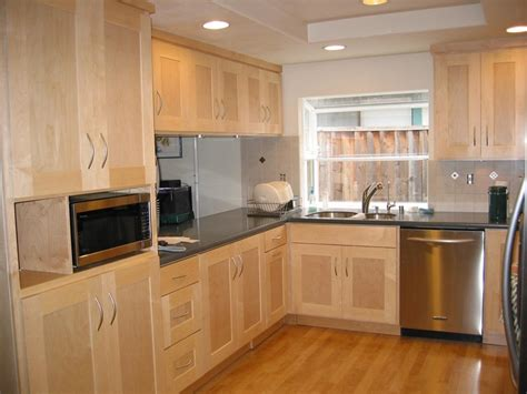 maple kitchen furniture shaker cabinets cabinets and lights on