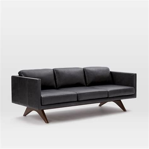 how much are leather couches brooklyn leather sofa 81 quot west elm