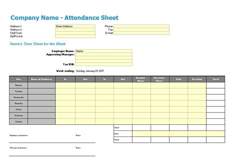top 28 13 free sle attendance printable homeschool
