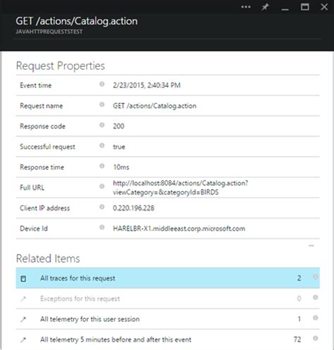 using app insights analytics query language to make better java web app analytics with azure application insights