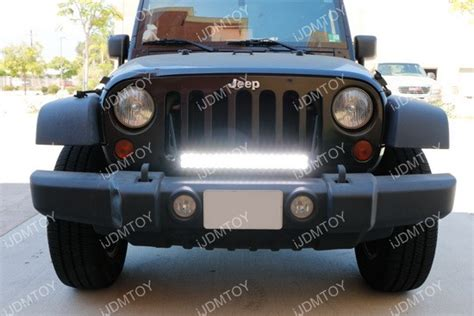 led light bars for jeep wrangler 20 quot 120w high power led light bar kit for jeep wrangler jk
