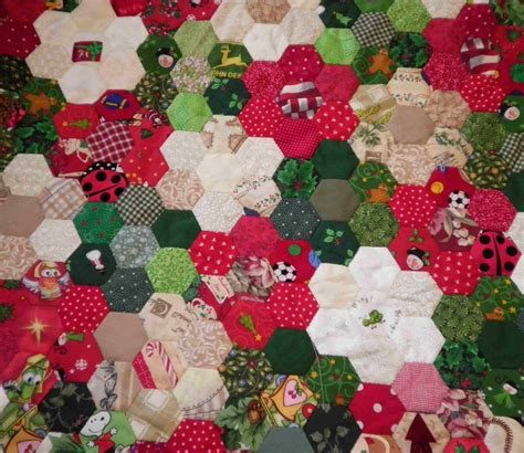 Piecing Quilts by Prosperitystuff Quilts Paper Piecing Hexagons Quilt