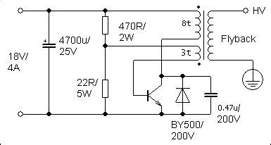 single transistor flyback driver simple powerful flyback driver