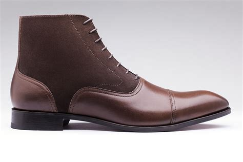 brown mens dress boots handmade mens brown leather boots mens ankle high oxford