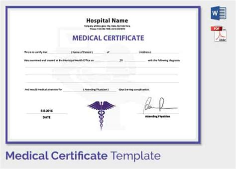 fake medical certificate template 124 free printable diy