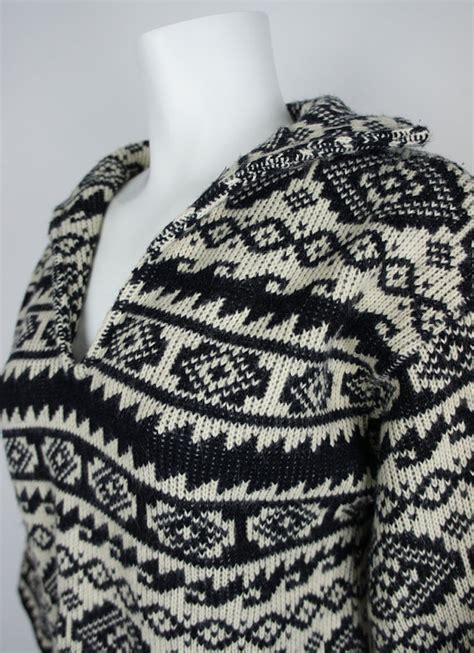 aztec pattern jumper 1960s aztec pattern knit sweater by leroy by foundationvintage