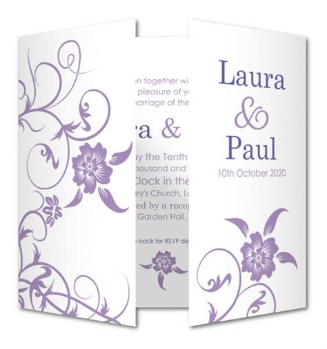 Wedding Invitations Cards Uk by Wedding Invitation Glossy Floral Planet Cards Co Uk