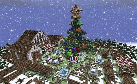 minecraft christmas tree map time minecraft project