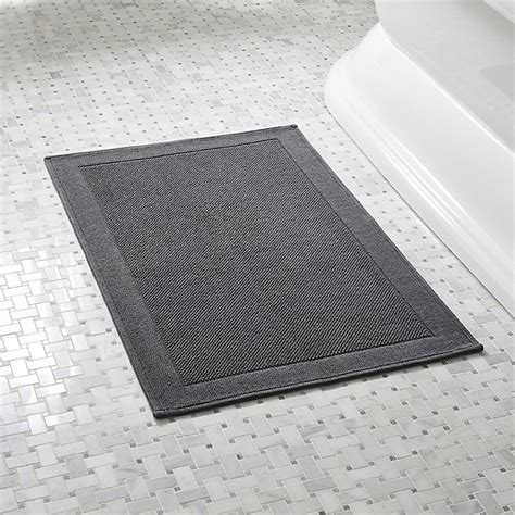 gray bathroom rug westport grey bath rug crate and barrel