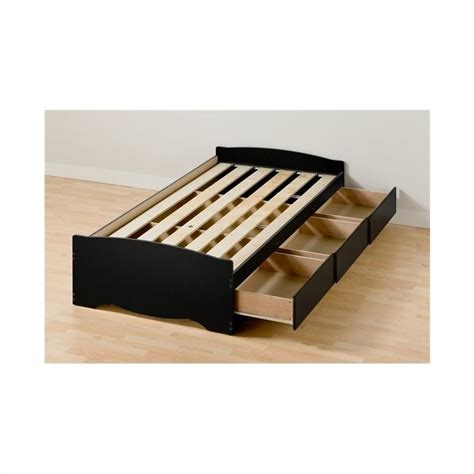 xl twin platform bed twin xl platform storage bed with drawers bbx 4105