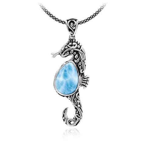 Sterling Silver Seahorse Necklace marahlago filigree seahorse necklace