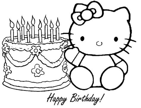 hello kitty birthday coloring pages best place to color