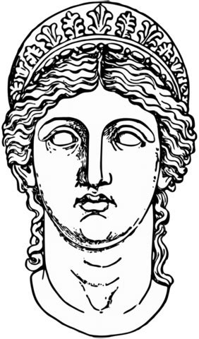 Mythology Coloring Pages Printable by Hera Goddess From Mythology Coloring Page Free