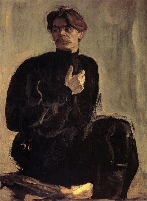 valentin serov portrait of the writer maxim gorky valentin serov