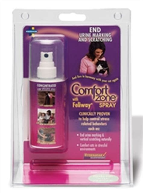 comfort zone pheromone comfort zone with feliway spray l pheromone calming aid
