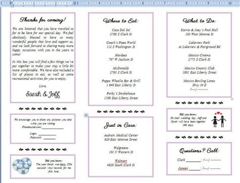 welcome brochures weddingbee photo gallery