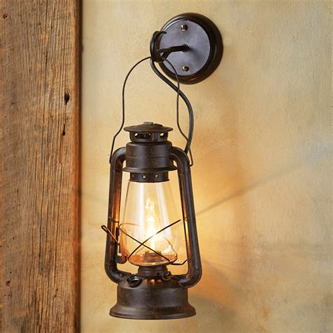 rustic wooden wall lights