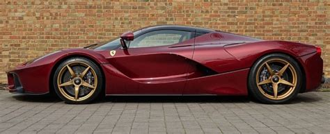 car ferrari gold laferrari 1 1 dark red gold wheels alcantara interior