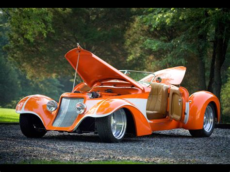 deco car wallpaper deco rides boattail speedster by chip foose open