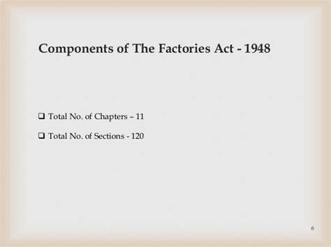 Factories Act 1948 Mba Notes by Factories Act 1948