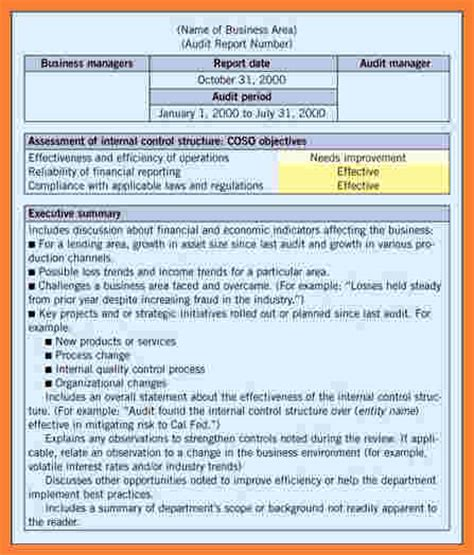 quality audit template 5 quality audit report template progress report