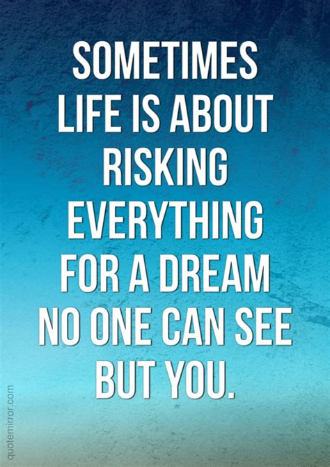 No One Can See You sometimes is about risking everything for a no