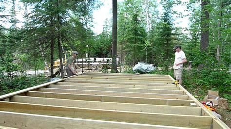 wall tent platform design completing the tent platform frame july 4 2011 youtube