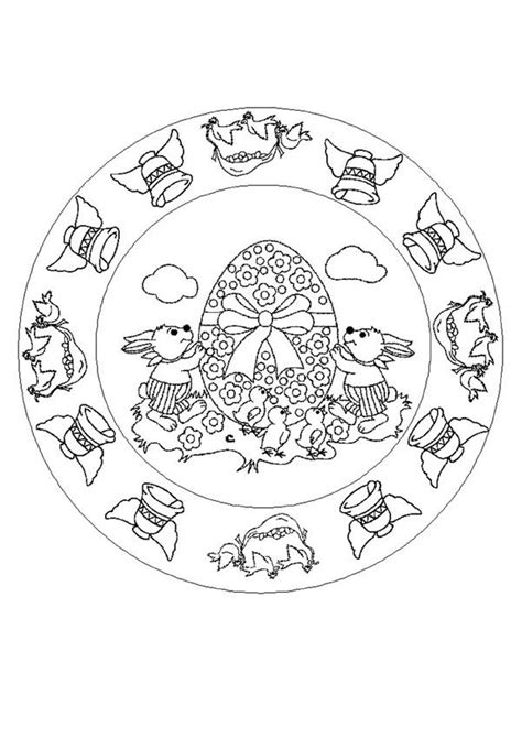 free easter mandala coloring pages easter mandala coloring pages hellokids com