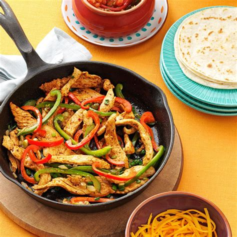 flavorful chicken fajitas recipe taste of home