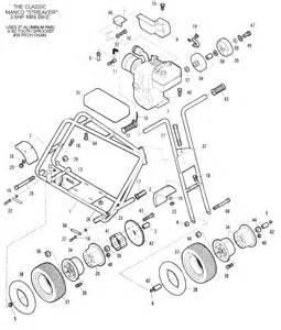 manco streaker mini bike parts breakdown