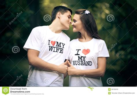 images of love with husband and wife married couple wiht words i love my wife and stock photo