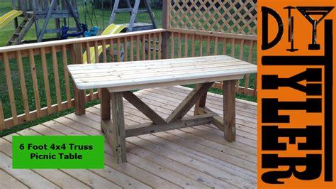 ft  truss picnic table diytyler