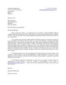 cover letter for childcare write cover letter child care