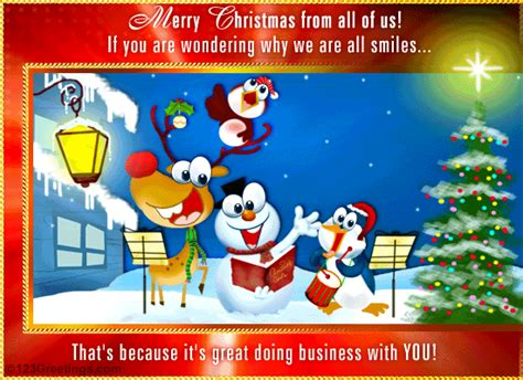 merry christmas    business  ecards greeting cards