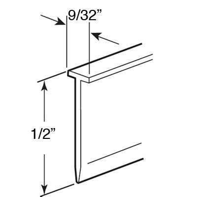 Shower Door Bottom Seal Sweep Shower Door Sweep 9 32 Top X 1 2 Inch Length Gray