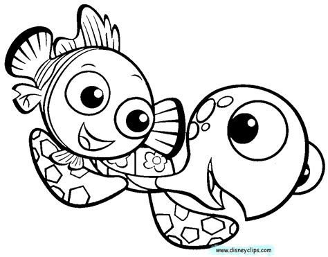 finding nemo coloring book pages coloring home