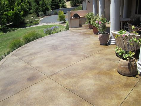 Remarkable Colored Concrete Patios Design Sted Concrete Backyard Patio