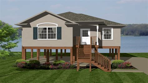 elevated home designs raised ranch front porch designs raised ranch exterior
