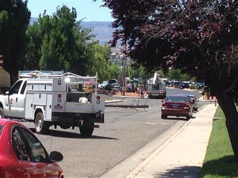 upholstery st george utah furniture truck pulls down 5 power poles resulting in